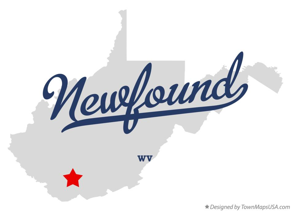 Map of Newfound West Virginia WV