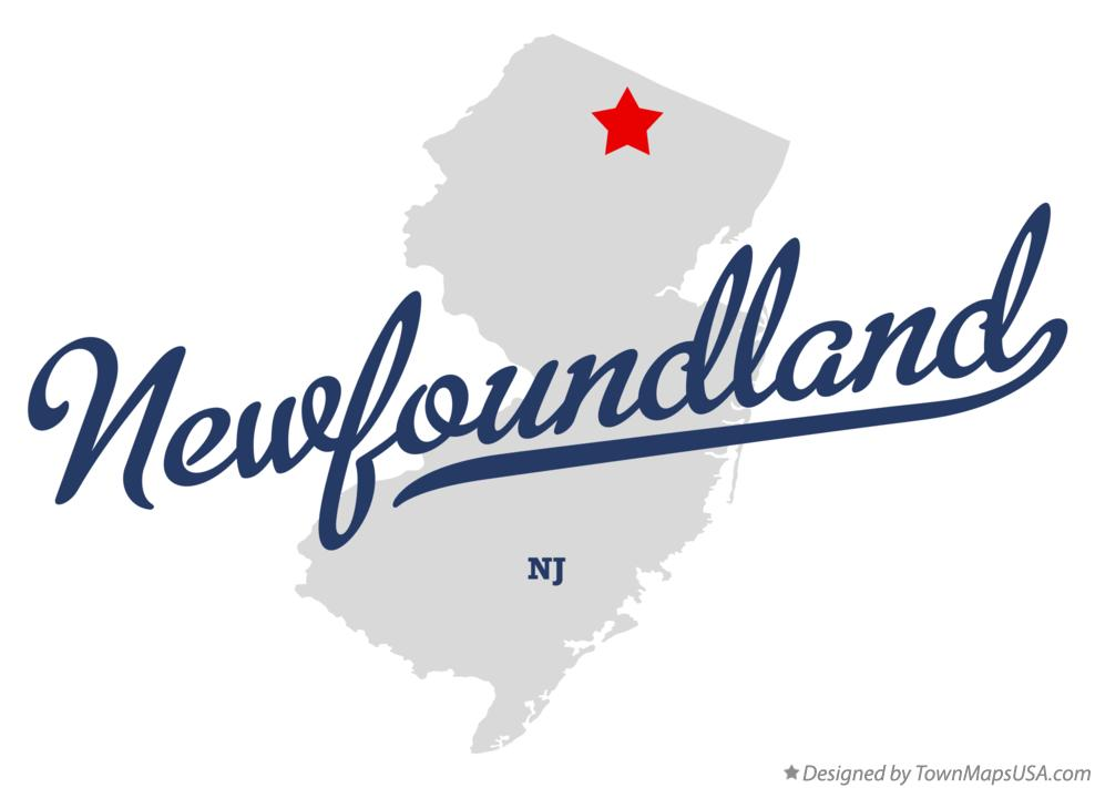 Map of Newfoundland New Jersey NJ