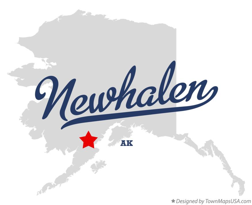 Map of Newhalen Alaska AK