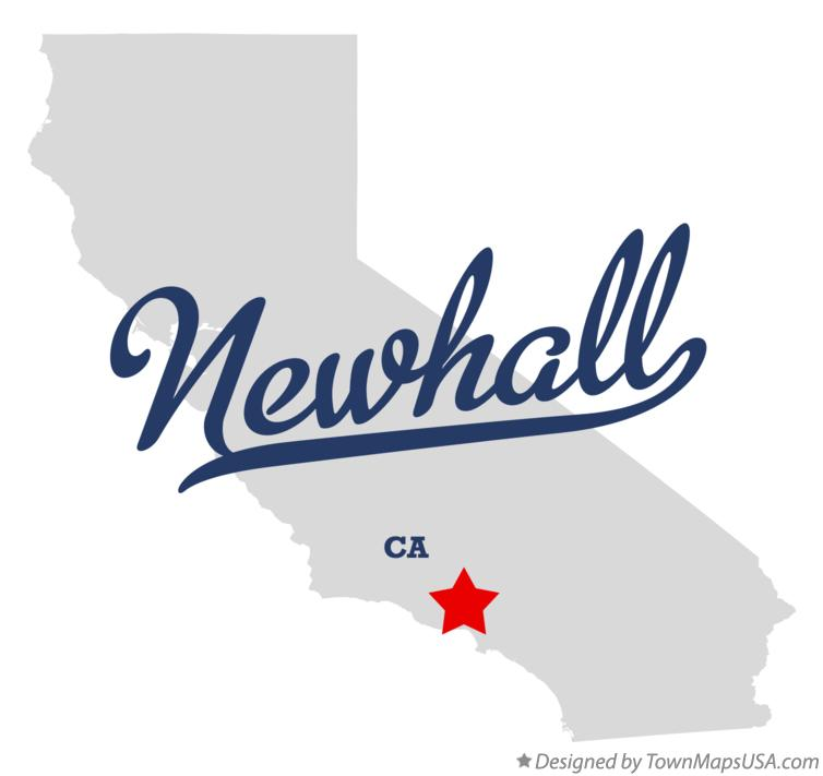 Map of Newhall California CA