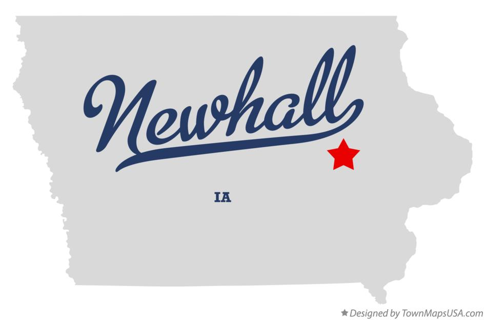 Map of Newhall Iowa IA