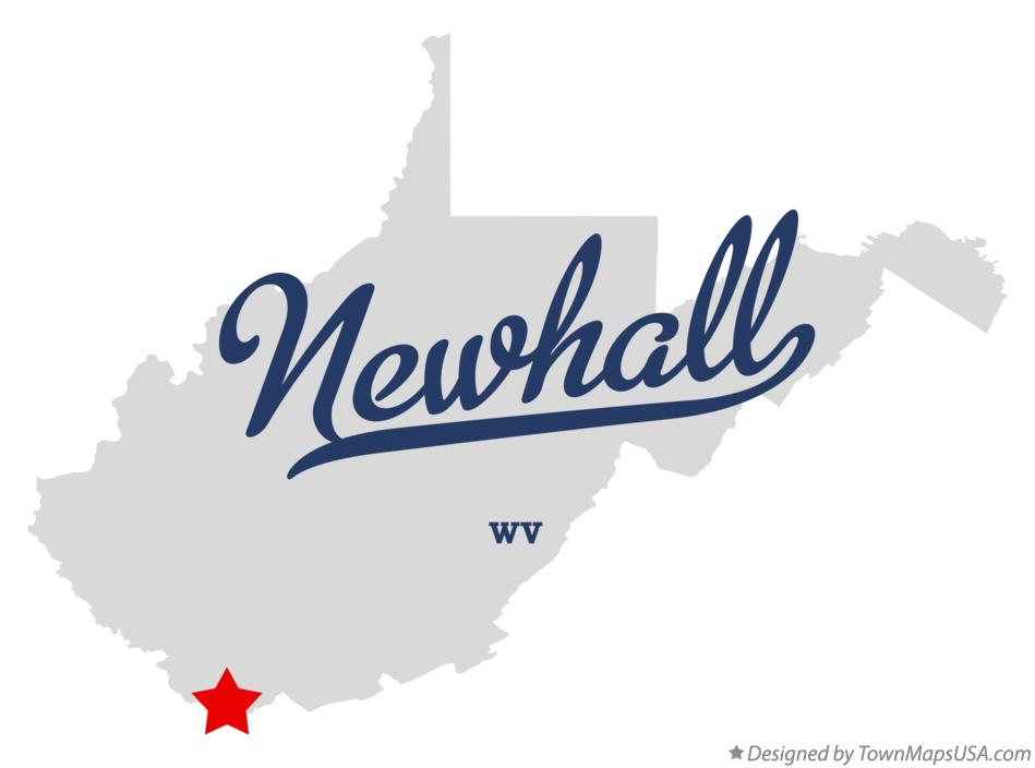 Map of Newhall West Virginia WV