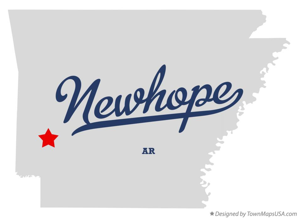 Map of Newhope Arkansas AR
