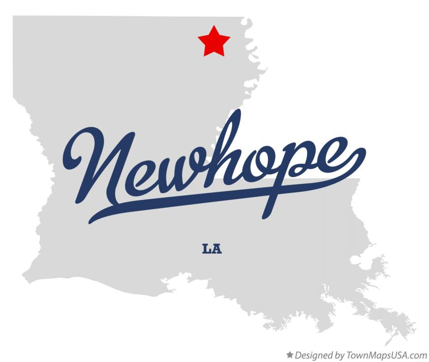 Map of Newhope Louisiana LA
