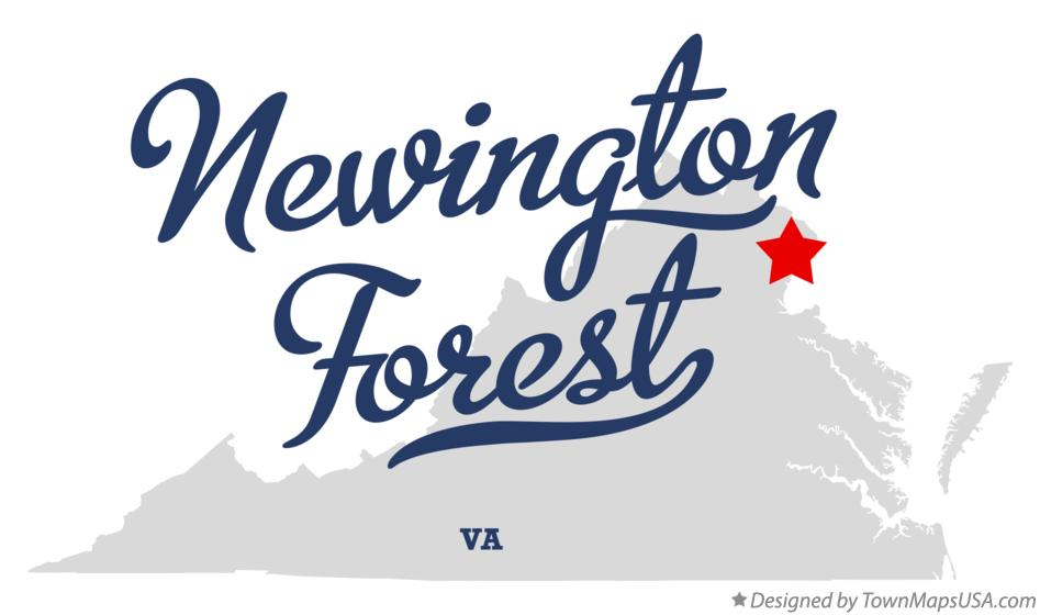 Map of Newington Forest Virginia VA