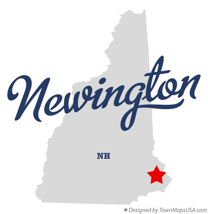 Map of Newington New Hampshire NH