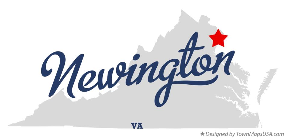 Map of Newington Virginia VA