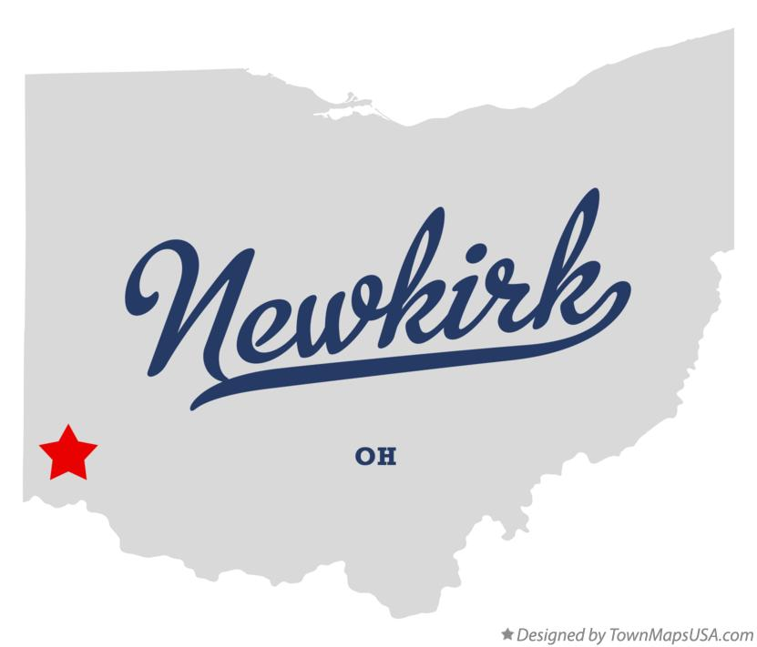 Map of Newkirk Ohio OH