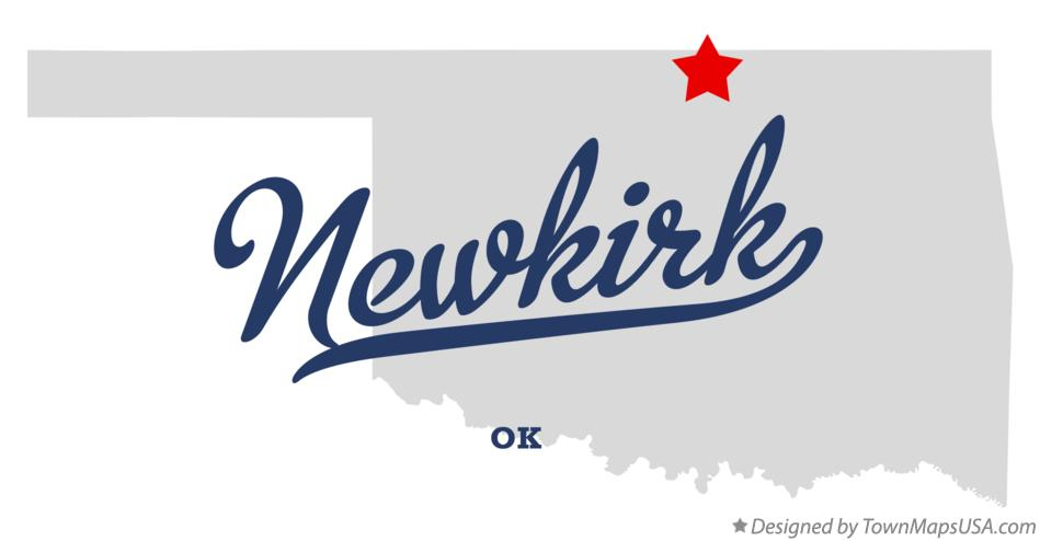Map of Newkirk Oklahoma OK