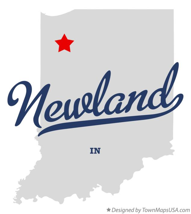 Map of Newland Indiana IN
