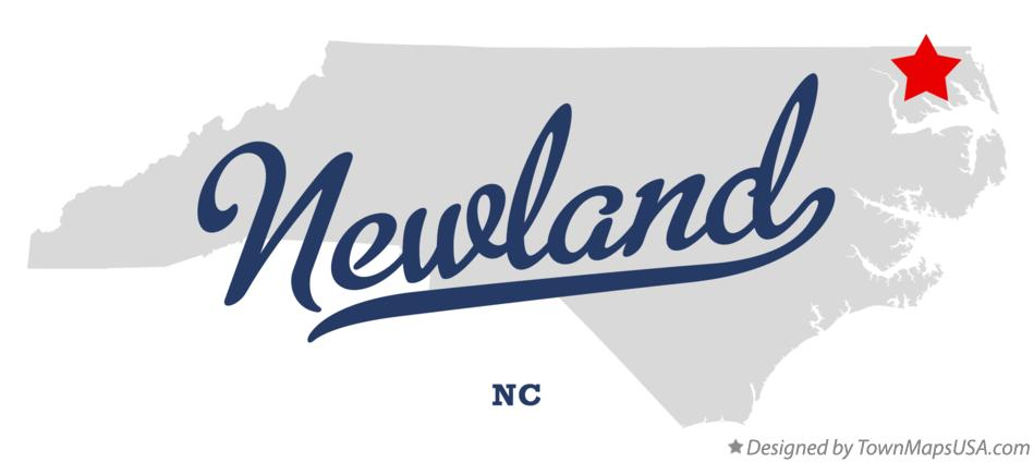Map of Newland North Carolina NC