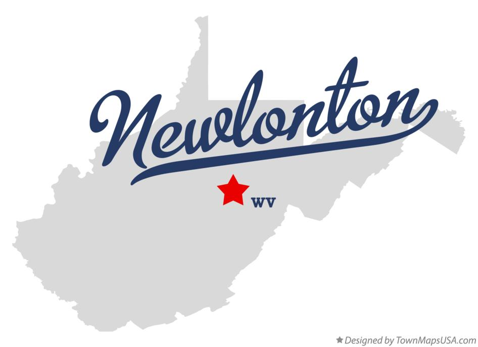 Map of Newlonton West Virginia WV
