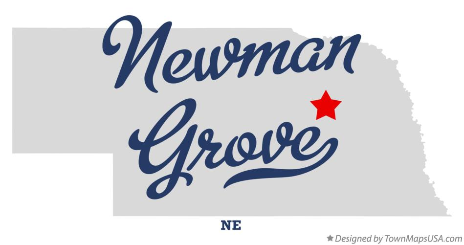 Map of Newman Grove Nebraska NE