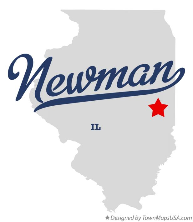 Map of Newman Illinois IL