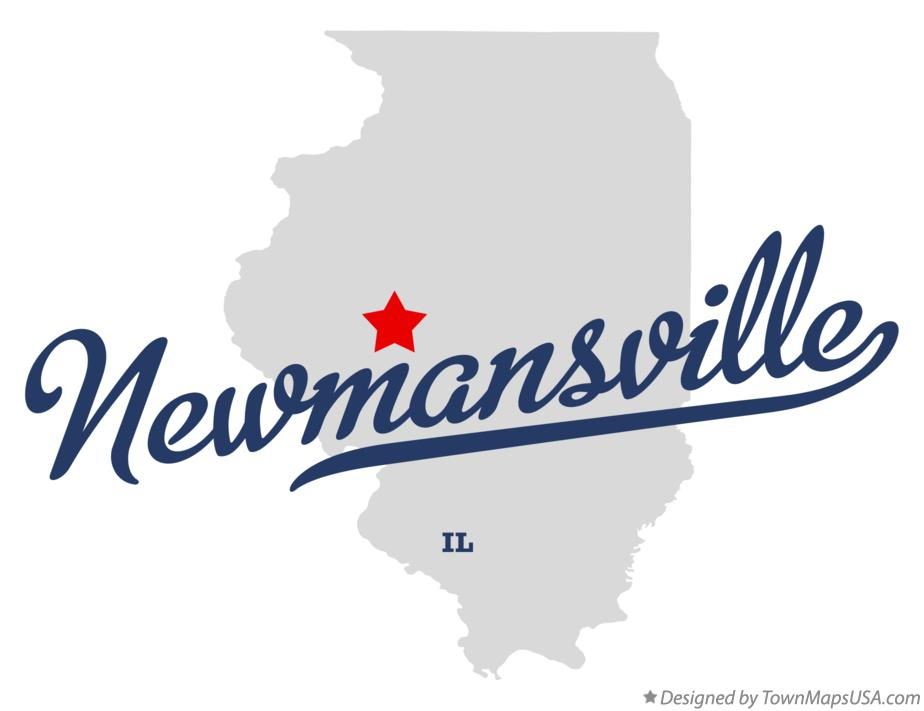 Map of Newmansville Illinois IL