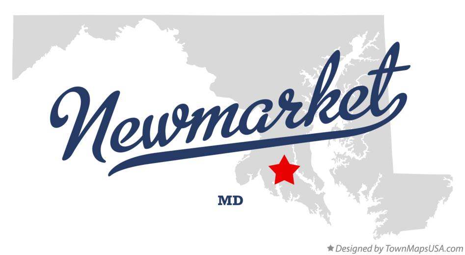 Map of Newmarket Maryland MD