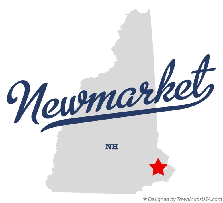 Map of Newmarket New Hampshire NH