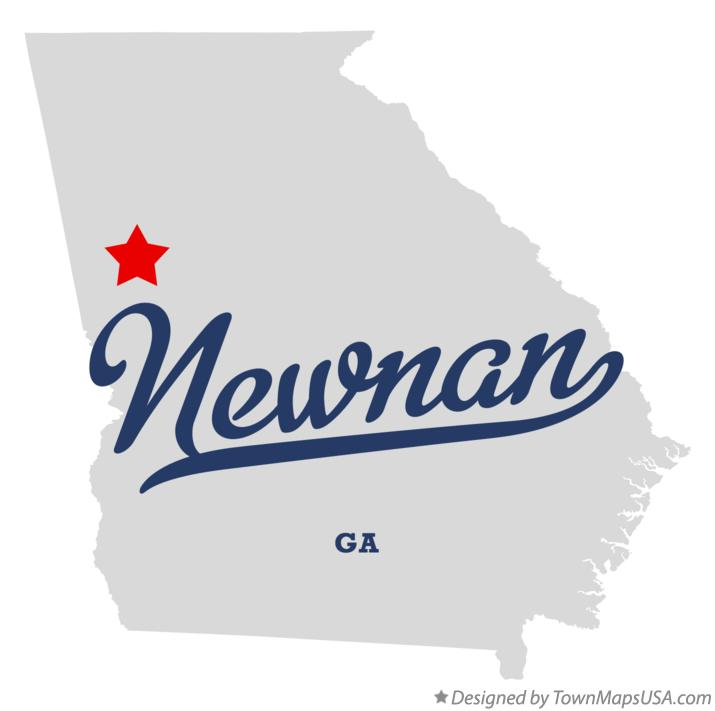 Map of Newnan Georgia GA