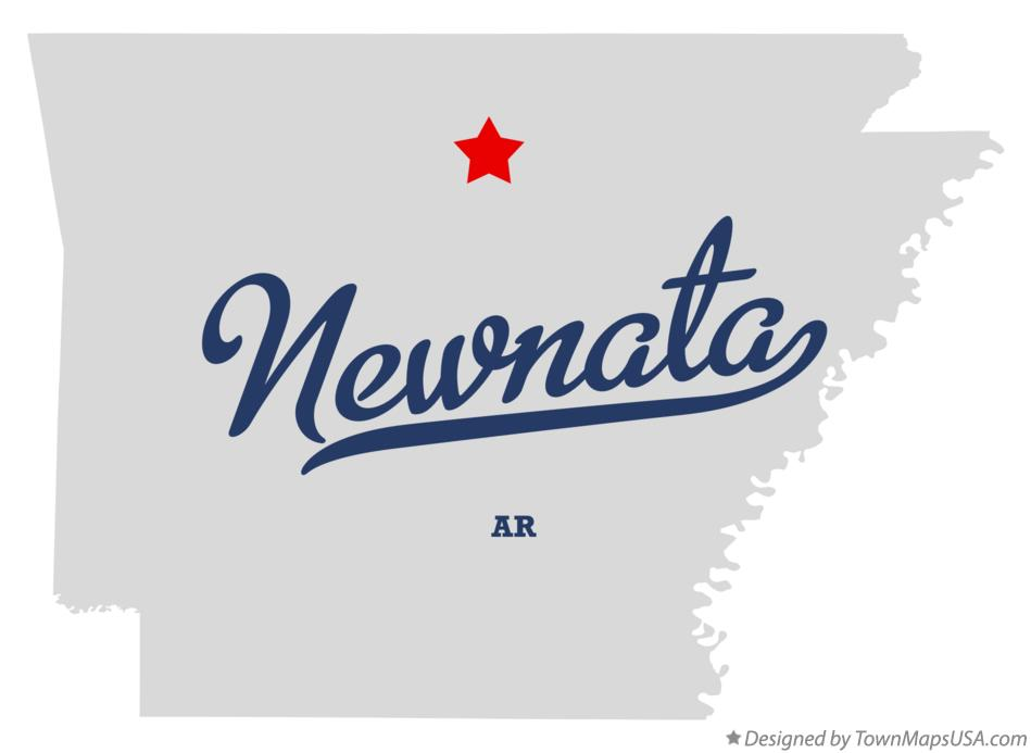 Map of Newnata Arkansas AR