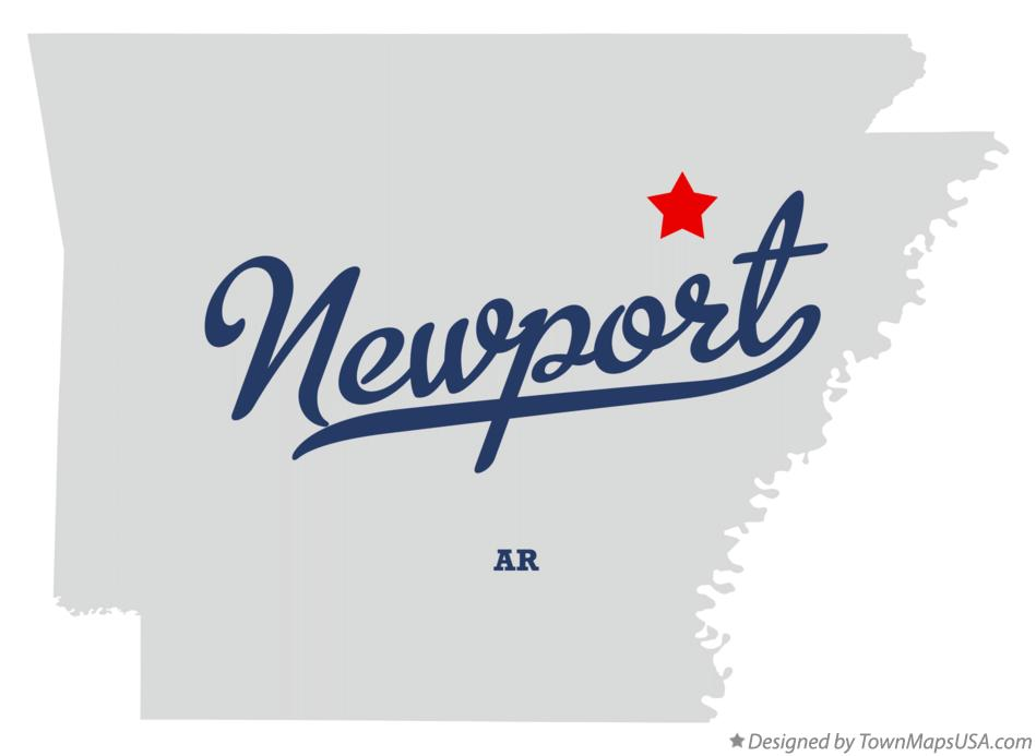 Map Of Newport Jackson County Ar Arkansas