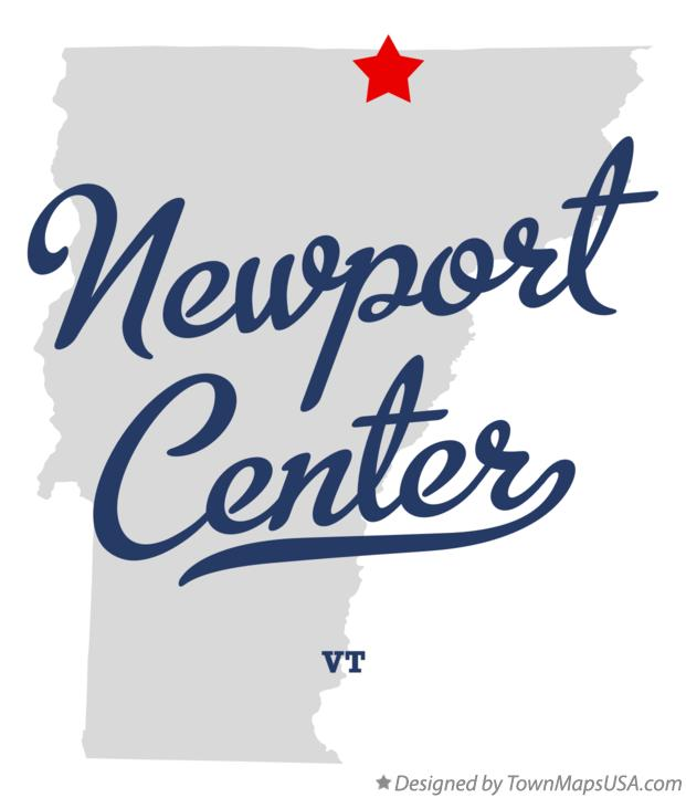 Map of Newport Center Vermont VT