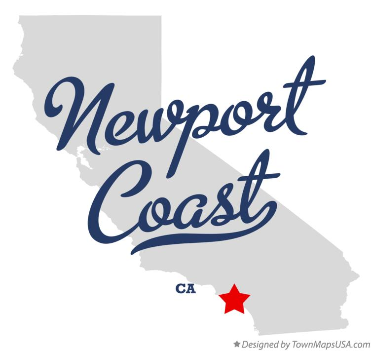 Map of Newport Coast California CA