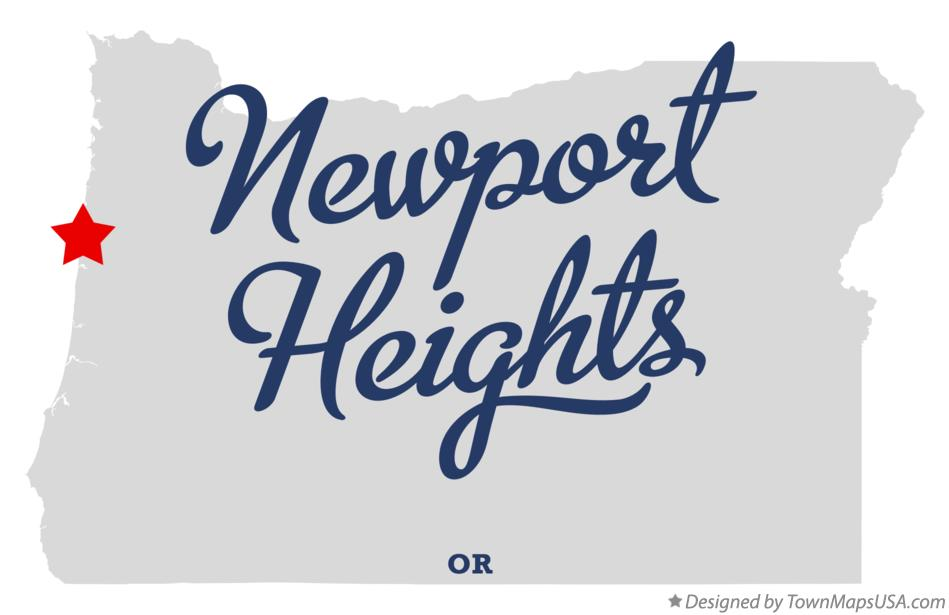 Map of Newport Heights Oregon OR