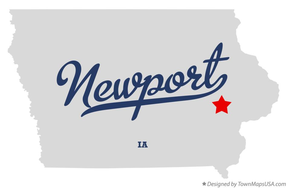 Map of Newport Iowa IA