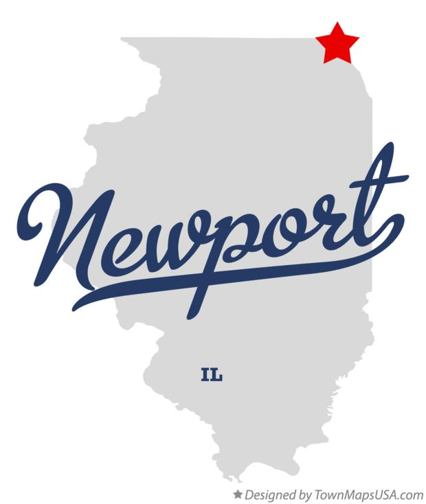 Map of Newport Illinois IL