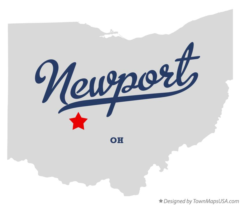 Map of Newport Ohio OH