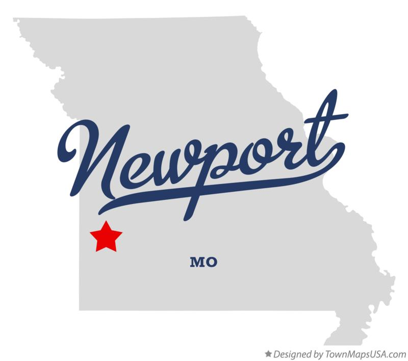 Map of Newport Missouri MO