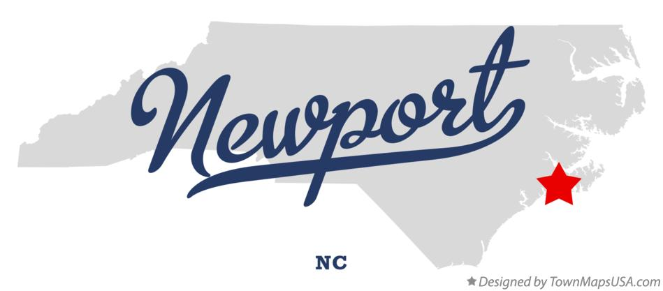 Map of Newport North Carolina NC