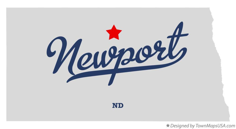 Map of Newport North Dakota ND