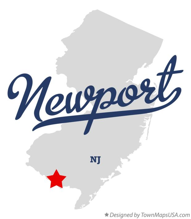 Map of Newport New Jersey NJ