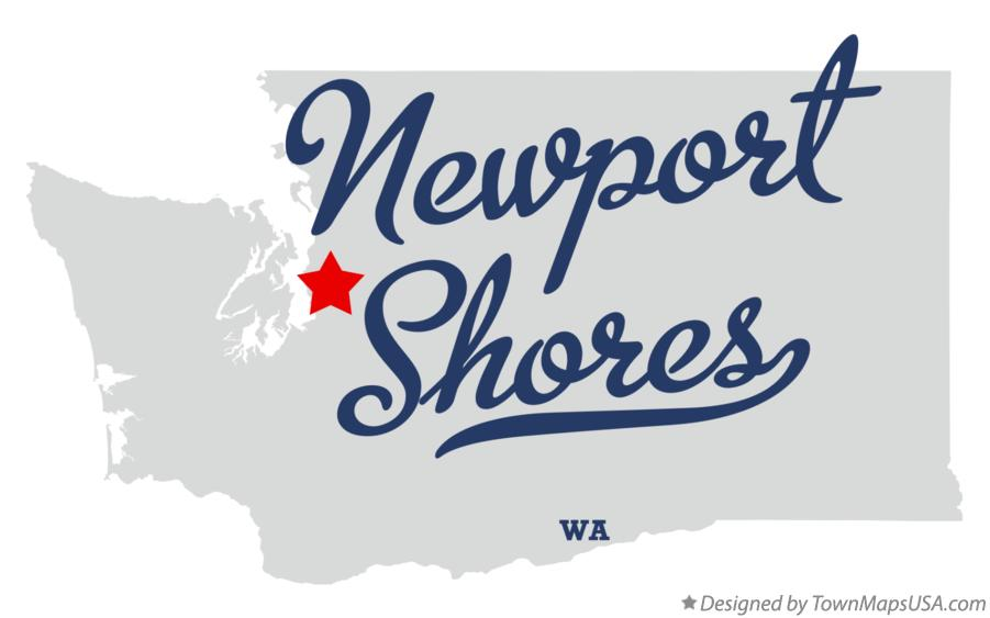 Map of Newport Shores Washington WA