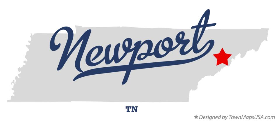 Map of Newport Tennessee TN