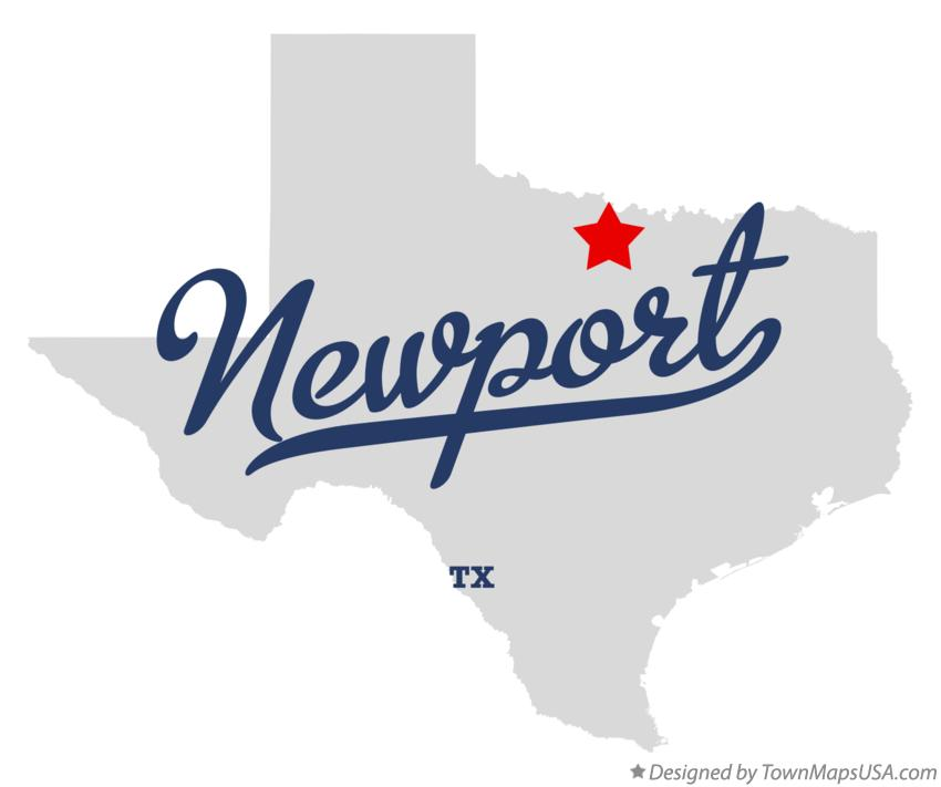 Map of Newport Texas TX