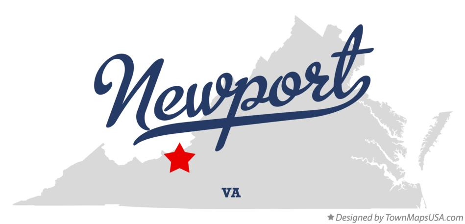 Map of Newport Virginia VA