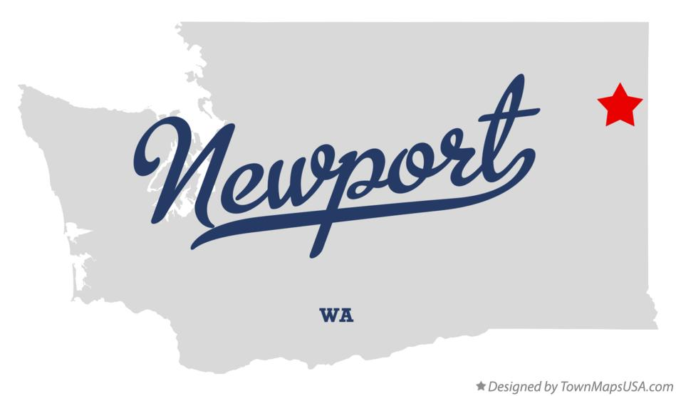 Map of Newport Washington WA