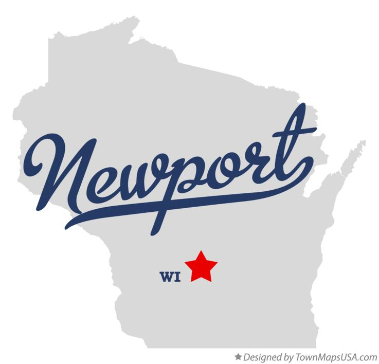 Map of Newport Wisconsin WI