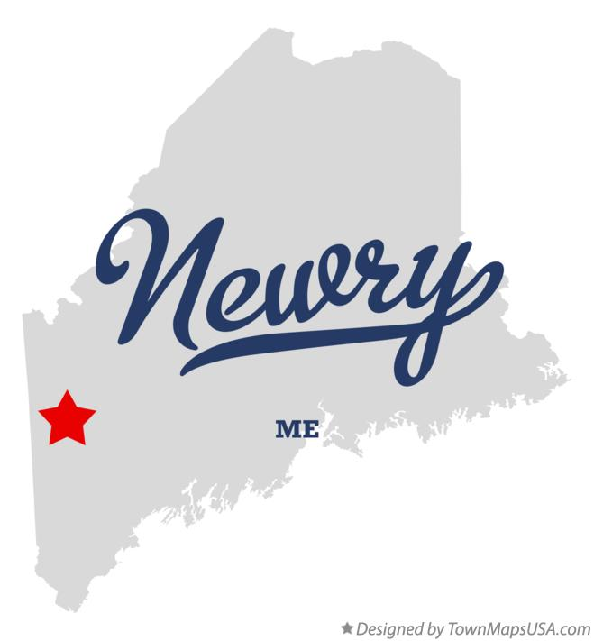 Map of Newry Maine ME