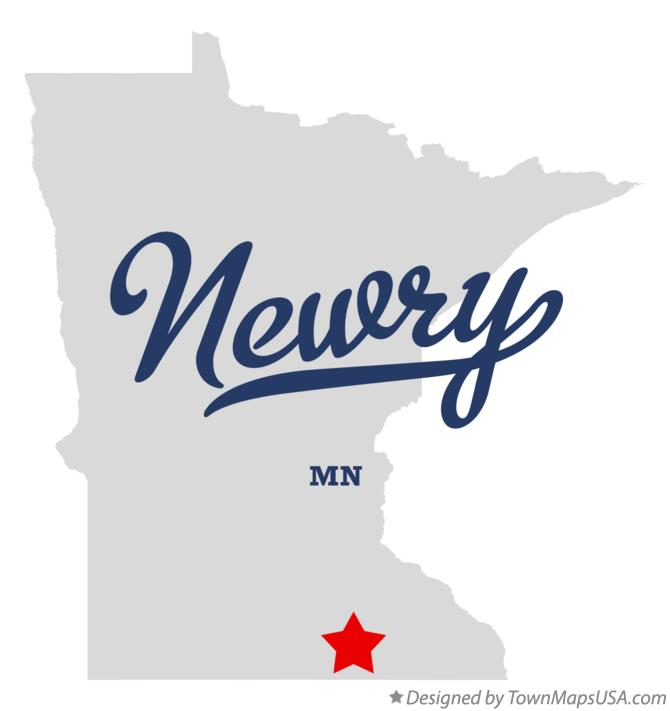 Map of Newry Minnesota MN