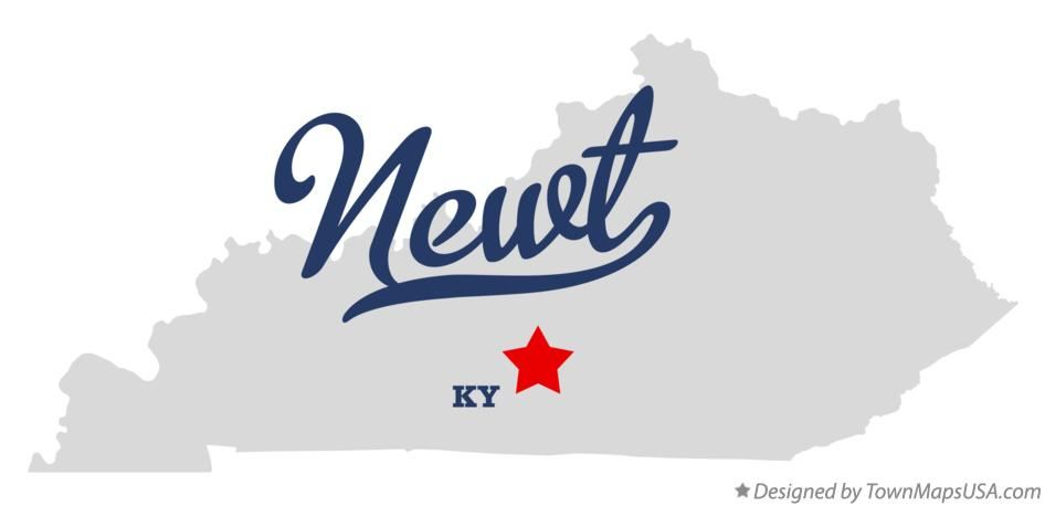Map of Newt Kentucky KY
