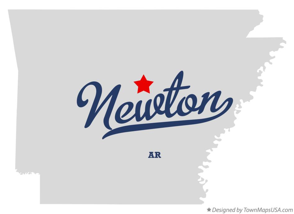 Map of Newton Arkansas AR