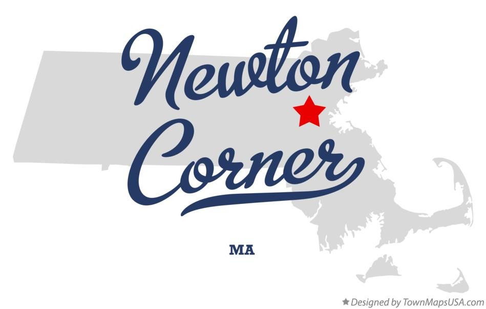 Map of Newton Corner Massachusetts MA