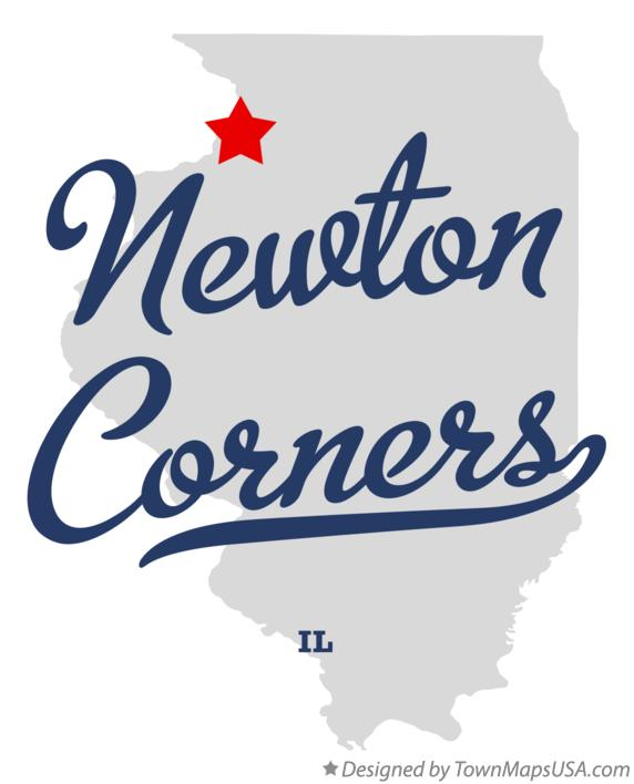 Map of Newton Corners Illinois IL