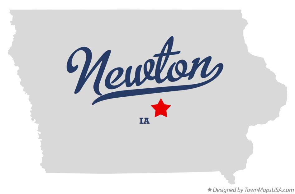 Map of Newton Iowa IA