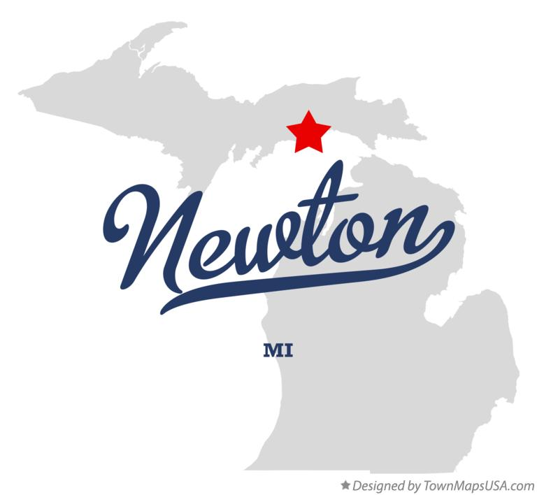 Map of Newton Michigan MI