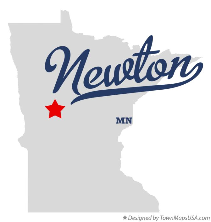 Map of Newton Minnesota MN