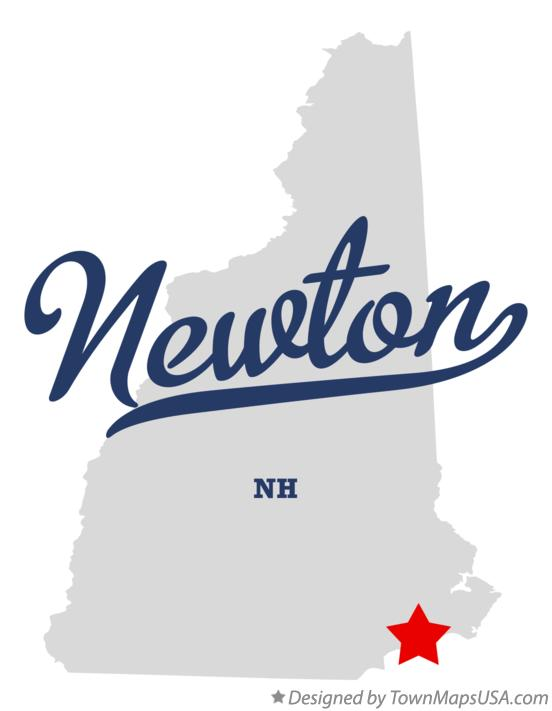 Map of Newton New Hampshire NH